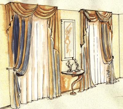 Дизайн штор и портьер.